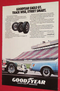 1982 GOODYEAR EAGLE TIRES AD WITH BUICK REGAL / STOCK CAR RETRO