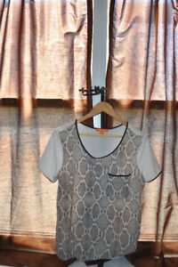 Snakeprint ladies top - great condition - free delivery