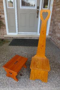 NEW PRICE TWO SMALL WOOD STEP STOOLS Kitchener / Waterloo Kitchener Area image 1