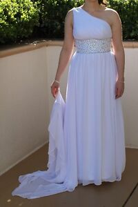 One strap Wedding Dress with beads and gems - Worn Once