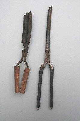 2 alte Brennscheren Lockenscheren, 1930er Jahre
