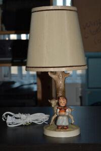 HUMMEL: Vintage Girl w Lamb Table Lamp ($100 or BEST OFFER)