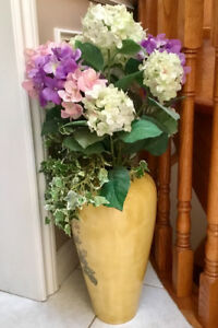 "FS: Flowers with vase (17"" in length from floor) - $30"