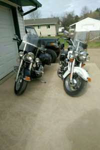 Heritage Classic Softails 2001s a his and hers pair.