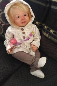Reborn Baby Girl Rooted long Hair