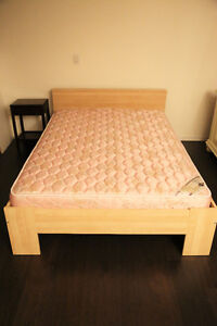 DOUBLE IKEA BED with SERTA MATTRESS
