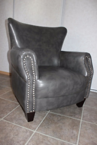 LIKE NEW Wingback Faux Leather Chair