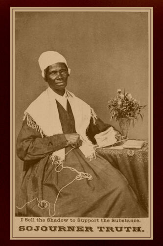 SOJOURNER TRUTH Anti-Slavery Legend Vintage Photograph A++ Reprint Cabinet Card