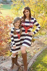 Mommy + Me Reindeer Dress