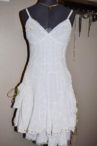 Designer Nina Austin layered dress-