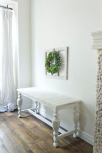 Shabby chic entry bench / bed bench