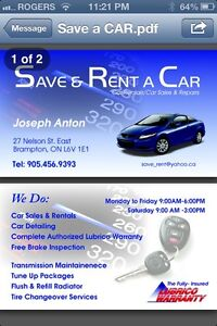 Rent a car from $45/day including kms Brampton