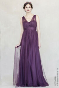 Jenny Yoo Annabelle Convertible Tulle Column Bridesmaid Dress