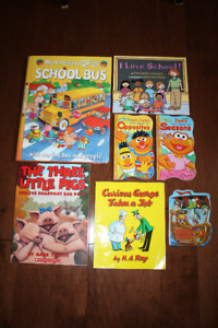 7 Assorted Toddler Books
