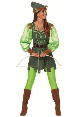 Robin Hood Jäger Girl Kostüm Kleid Räuberin Held Lady Jägerin Diebin Heldin Hut ()