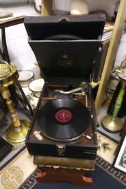 Antique HMV gramophone