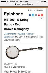 Epiphone Banjo $250 OBO