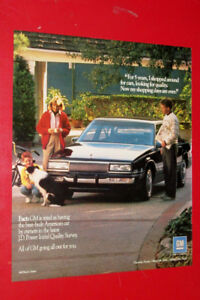 1990 GM QUALITY CARS AD WITH BUICK LESABRE - RETRO VINTAGE PUB