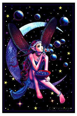 Fairy Dream Flocked Blacklight Poster Blacklight Poster Print, 23x35