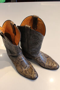 Mens Snakeskin Cowboy Boots Brand Name Justin