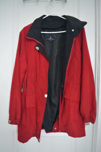 RED LONDON FOG TRENCH COAT - BEAUTIFUL FOR FALL
