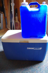 Coleman Cooler and Water Container