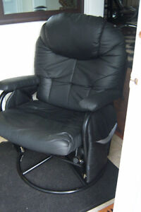 Black Glider Recliner Chair with foot rest