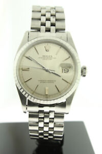 Rolex Datejust 36mm Stainless Steel Silver Dial Automatic 1603