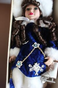 ICE SKATING VANESSA RICARDI PORCELAIN DOLL (VIEW OTHER ADS)