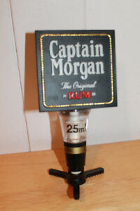 Captain Morgan Rum dispenser.