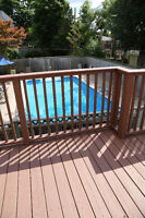 DECK FENCE CABANA PRIVACY SCREEN SPRAYING STAINING