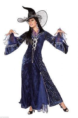 Merlin Hexer Magier Kostüm Kleid Märchen Umhang Zauberer Damen Oz Os Hexe Hut