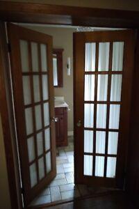 Door - 26(w) x 79, Indoor, Double French Door, Wood, Vintage
