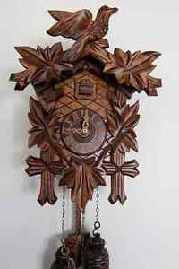 Authentic Cuckoo Clock Made by Hubert Herr,Black Forest,Germany