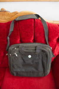 Leather and Fabric Laptop Bag