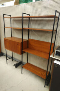 Mid Century Teak Adjustable shelving Unit
