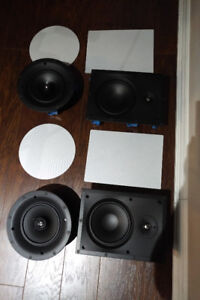 Paradigm in wall and in ceiling speakers for surround sound