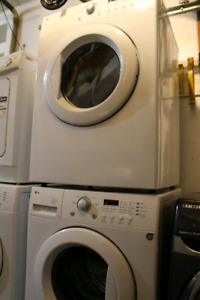 LG front load washer and dryer laundry pair
