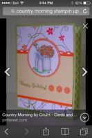 Country morning by stampin up