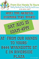 From Our Hands To Yours: Meet The Artists Aug 15