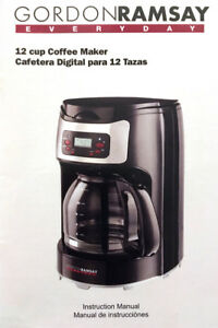 Gordon Ramsay 12 Cup Programmable Coffee Maker