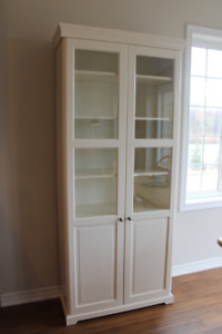IKEA Liatorp Bookcase with Glass Doors