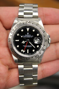 Rolex Explorer II Black Dial Stainless Steel 16570 40mm GMT