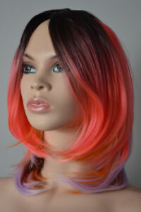 NEW WITH TAGS: Deluxe Fun Tutti-Fruitti Ombre Wig