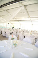 130 white chair covers