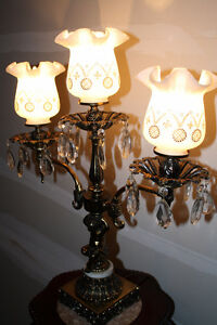 Vintage Brass, Marble and Crystal Lamp Kingston Kingston Area image 4