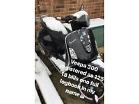 Vespa GTS 300 registered as 125 not gilera Beverly tmax xmax Yamaha piaggio Honda