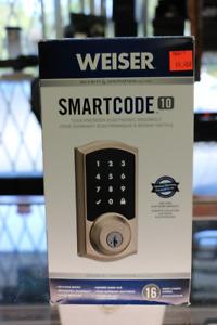 **SECURE** Weiser SmartCode 10 Touchscreen DeadBolt (#16571)