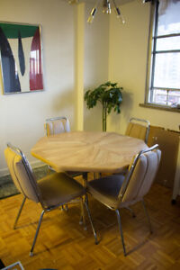 Vintage Dining Table & Chairs