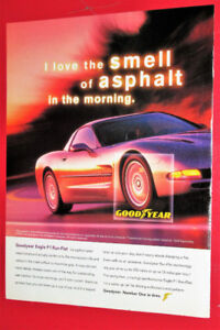 COOL 1999 GOODYEAR F1 TIRES AD WITH CORVETTE - ANONCE PNEUS